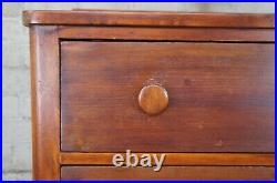 Antique 19th C. Cherry Early American Dresser Chest of Drawers Civil War Era 45