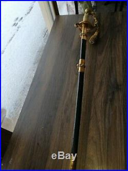 Antique American Navy Usn Naval Sword With Knot