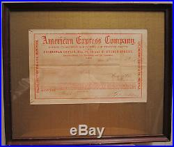 Antique CIVIL War Era Titusville Pa Oil Discovery American Express Broadway Ny
