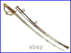Antique Civil War Sword M1860 Cavalry C. Roby, Dated 1864 American US Saber