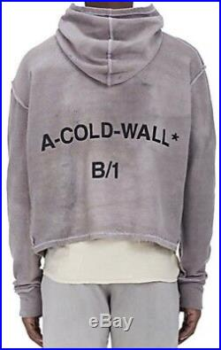 Authentic A-Cold-Wall ACW presented by Samuel Ross split front hoodie slate M