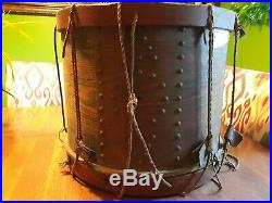 Authentic Antique Civil War Period Field Drum, Painted American Eagle