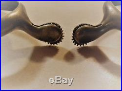Authentic Brass Cavalry Spurs American Indian Wars Star Marked