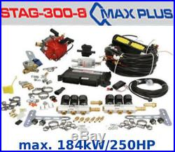 Autogas Conversion kit for 8 cylinders STAG Qmax Plus 184 kW / 250 HP LPG