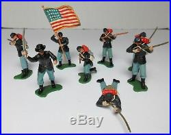 BRITAINS SWOPPETS AMERICAN CIVIL WAR UNION CONFEDERATE SOLDIERS LOT of 50