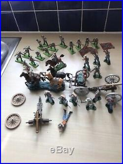 Britains Acw Swoppet/ Deetail Gun Limber +cannons +figures Good Condition