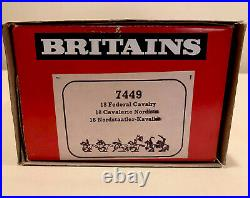 Britains Deetail ACW 7449 Union Soldiers -18 Mounted Figures in Counter Box -NIB