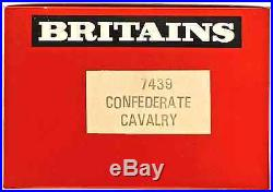 Britains Deetail C. S. A. Cavalry 18 Figures # 7439 mint in counter pack
