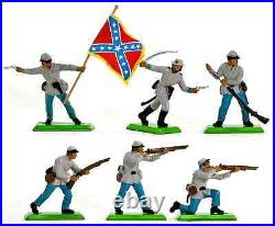 Britains Deetail C. S. A. Infantry 48 Figures # 7440 mint in counter pack
