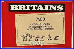 Britains Deetail Federal Infantry 48 Figures # 7450 mint in counter pack