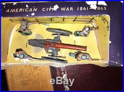 Britains Herald ACW Confederate Forces With Gun #4434 In Good Condition