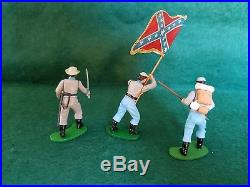 Britains Swoppet ACW Confederate Infantry-Complete Set of 9 Very Good Condition