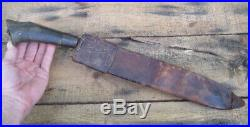 CIVIL War Confederate Native American Very Large Antique Bowie Knife