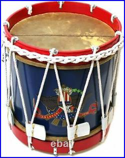 CIVIL War Drum American Eagle Colonial Marching Medieval 14 Snare