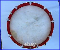 CIVIL War Drum Colonial Marching Revolutionary Medieval 14 Inch Snare Red
