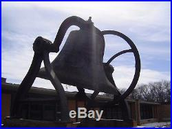 Church bell no 36 with carriage civil war era 900 pounds american bell co mich