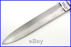 Circa 1840s-1860s American Civil War used English Cast Steel Bowie Knife