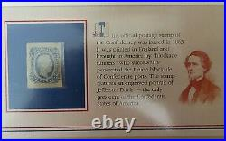 Confederate Currency & Stamp In Commemorative Society Folder, Free Shipping