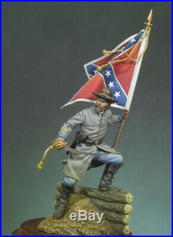 Confederate Standard Bearer American Civil War Tin Painted Toy Soldier Art