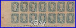 Confederate States CSA #11 Plate Block Sheet of 14, Mint NH OG