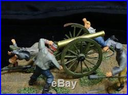 Conte Artillery Acw57147 Rolling Thunder Confederate Cannon 4 Fig & Base