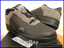 DS Nike Air Force 1 One X ACW A Cold Wall Low Black Grey QS 10 BQ6924 001 af1