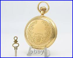 ELGIN B. W. Raymond 18k Solid Gold 18s Pocket Watch American History Must See