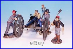Frontline ACW Confederate Artillery Whitworth Cannon with Crew Loading ACG11