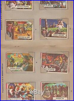Full Set of 88 A&BC (Topps) American Civil War News Cards 1965. VGC in album