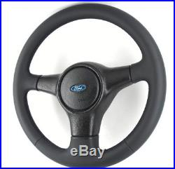 Genuine Ford Fiesta RS Turbo MK3 leather steering wheel. Retrimmed PERFECT! 2E