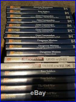 HUGE Lot Of 63 USED History Channel DVD AMERICAN MONUMENTS WORLD WAR 2 CIVIL WAR