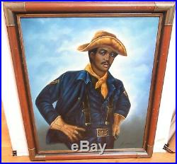 L. Mason African American CIVIL War Soldier Original Oil On Canvas Painting #2