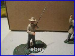 Lemans 1/32nd scale metal matte finished ACW Confederate figure grouping