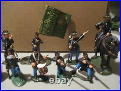Lemans 1/32nd scale metal matte finished ACW Union figure grouping