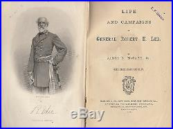 Life and Campaigns of Gen. Robert E. Lee. By James D. McCabe. With maps. Vintage