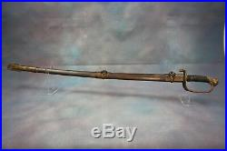 M1850 American Civil War Foot Officers Sword Magnificent Blade & Scabbard NICE