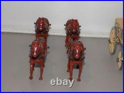 Metal Toy Soldier W Britains ACW Union Wagon 4 Horses 2 drivers dated 1995