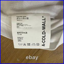 NEW! £130 A COLD WALL White Black Signature ACW Back Print T Shirt Size L Top