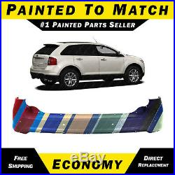 NEW Painted To Match Rear Upper Bumper Cover for 2011-2014 Ford Edge with Park