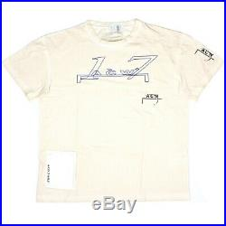 NWT $245 A Cold Wall ACW ACW17 Logo Print Distressed Beige T-Shirt XL AUTHENTIC