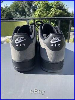 Nike Air Force 1 07 WHITE BLACK GREY A COLD WALL Size 12 Acw Stitch Printed