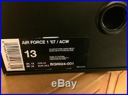Nike Air Force 1 Low 07 X A Cold Wall Size 12 ACW Brand New