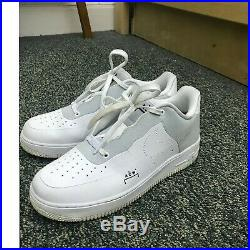 Nike Air Force 1 x ACW A Cold Wall Sz 9 White Light Grey