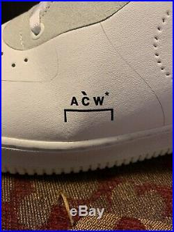 Nike X A-COLD-WALL ACW Collab Air Force One AF1 White US Mens Size 10.5