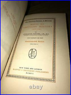Old Leather! 1907 22 Books History Of The AMERICAN NATION Revolutionary Civil War