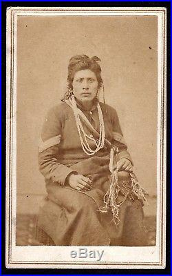RARE c. 1865 AMERICAN INDIAN CIVIL WAR SERGEANT UNION CALVARY CROW INDIAN