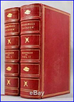Rare 1898 1stED Stonewall Jackson and the American Civil War Fine Full Leather