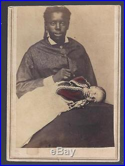 Rare Civil War Era CDV of An African American Nanny and White Childe, C G Giers
