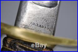Rare U. S. M1840 Heavy Calvary Saber Shelby And Fisher American CIVIL War Sword