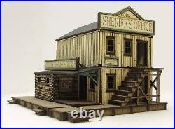 SHERIFF'S OFFICE FULLY BUILT (as seen) 28mm WILD WEST / ACW MDF BUILDING